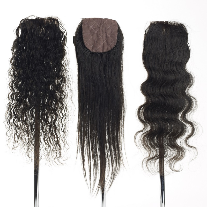 lace top closure true indian hair